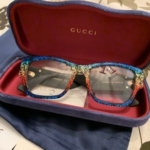 699e86c0965 Gucci Accessories - Authentic Gucci 51mm Glitter Acetate opt glasses🌺